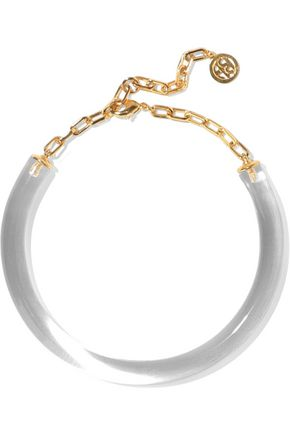 BEN-AMUN 24-karat gold-plated lucite necklace