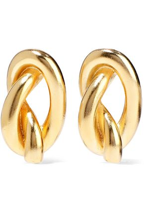 BEN-AMUN Gold-tone clip earrings