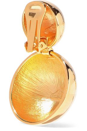 BEN-AMUN 24-karat gold-plated clip earrings