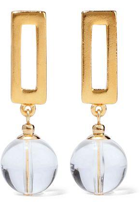 BEN-AMUN Gold-tone lucite earrings