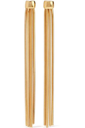 BEN-AMUN Gold-tone tassel earrings