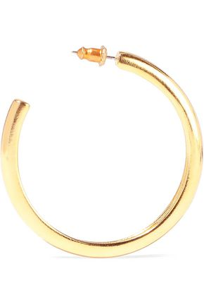 BEN-AMUN 24-karat gold-plated hoop earrings