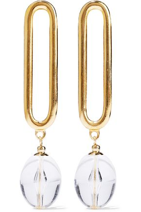 BEN-AMUN Gold-tone lucite earrings