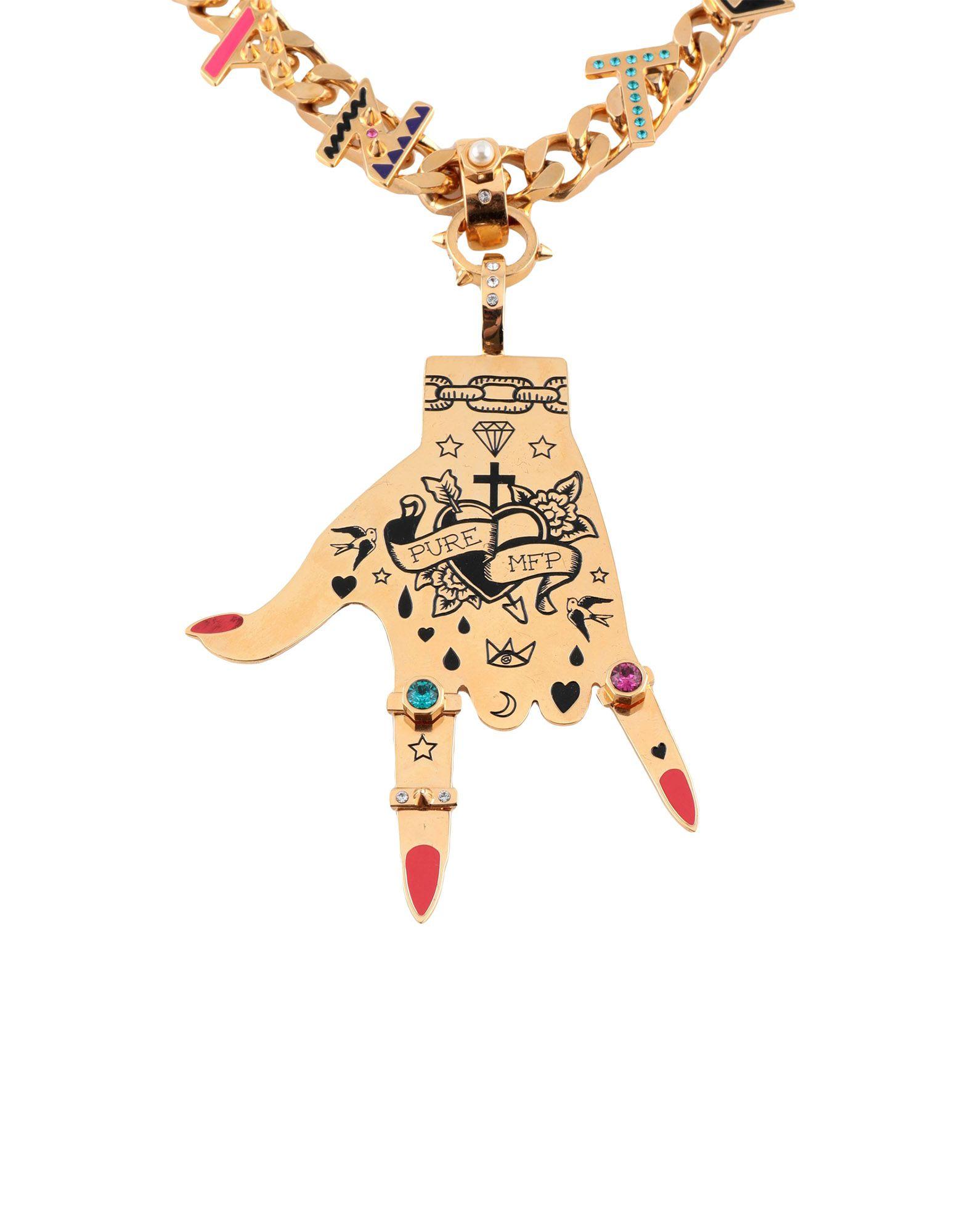 《送料無料》MARIA FRANCESCA PEPE レディース ネックレス ゴールド 金属
