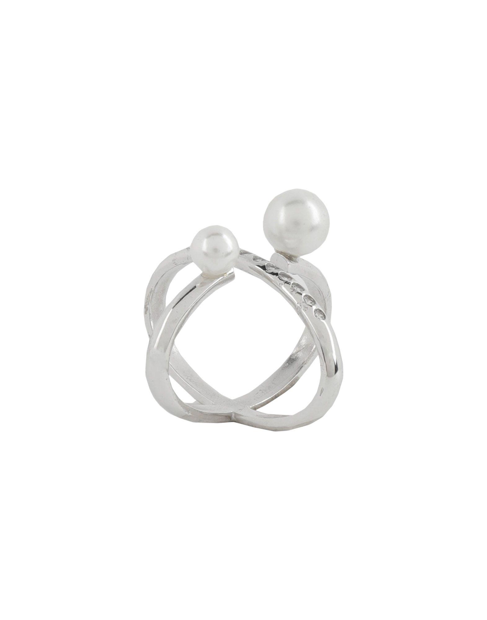 《送料無料》MARIA FRANCESCA PEPE レディース 指輪 シルバー M 金属
