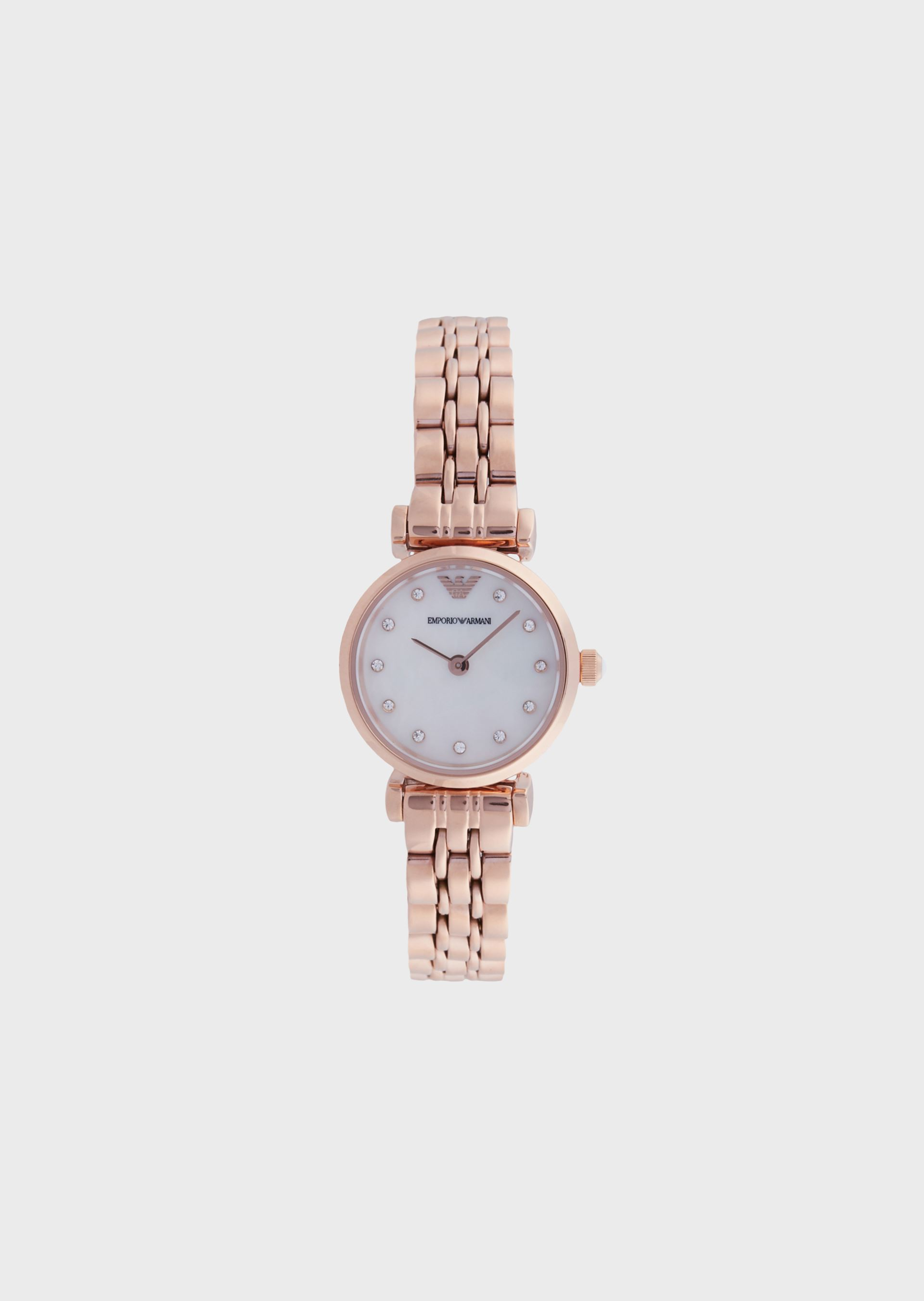 EMPORIO ARMANI Woman two-hand stainless steel watch