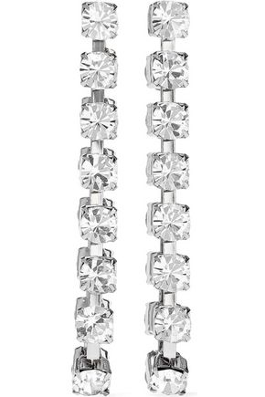CHRISTOPHER KANE Silver-tone crystal earrings