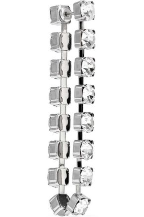 CHRISTOPHER KANE Silver-tone crystal earrings