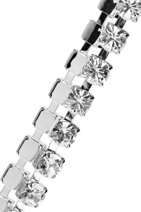 CHRISTOPHER KANE Silver-tone crystal choker