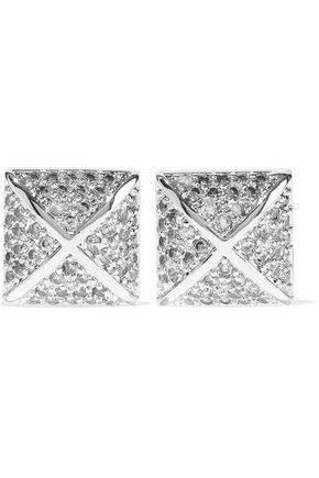 CZ by KENNETH JAY LANE Silver-tone crystal earrings