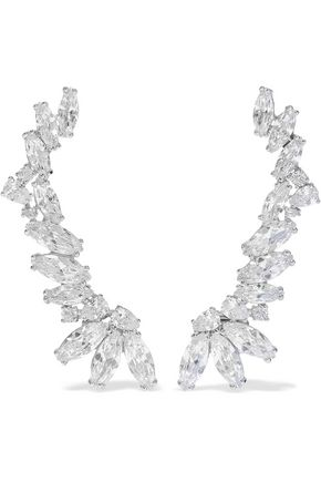 CZ by KENNETH JAY LANE Silver-tone crystal ear cuffs