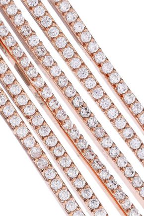 CZ by KENNETH JAY LANE Rose gold-tone crystal earrings