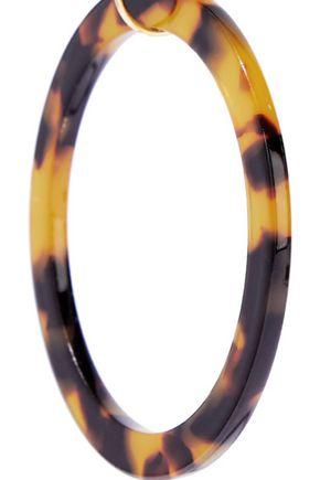 KENNETH JAY LANE Gold-tone tortoiseshell resin hoop earrings