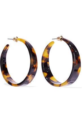 KENNETH JAY LANE Tortoiseshell acetate hoop earrings