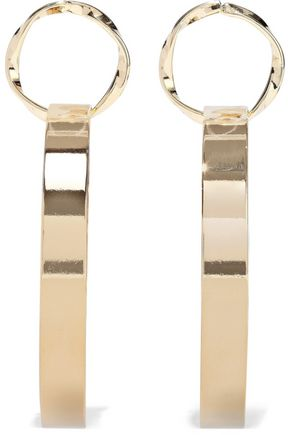 KENNETH JAY LANE 22-karat gold-plated hoop earrings