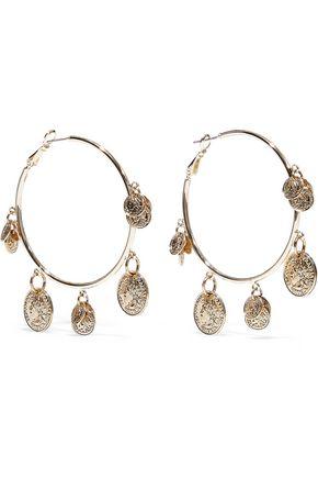 KENNETH JAY LANE 22-karat gold-plated hoop earrings