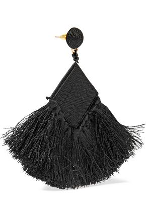 KENNETH JAY LANE Cord, bead and tassel earrings