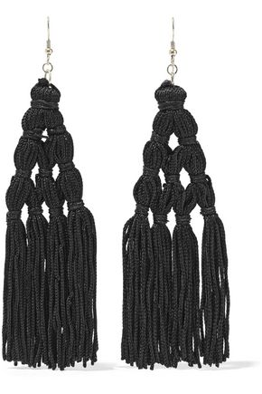 KENNETH JAY LANE Gold-plated cord tassel earrings