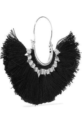 KENNETH JAY LANE Silver-tone tasseled cord earrings