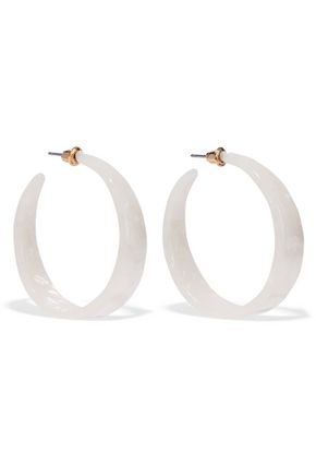 KENNETH JAY LANE Resin hoop earrings