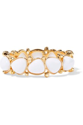 KENNETH JAY LANE Gold-plated stone bracelet