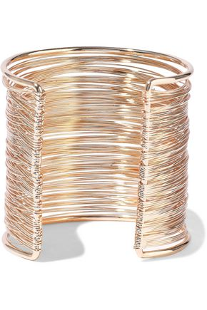 KENNETH JAY LANE 22-karat gold-plated cuff