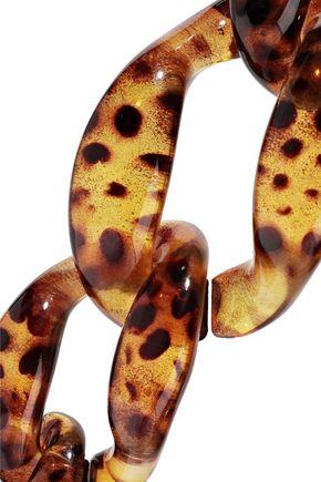 KENNETH JAY LANE Tortoiseshell acetate necklace