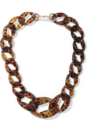 KENNETH JAY LANE Tortoiseshell acetate necklace