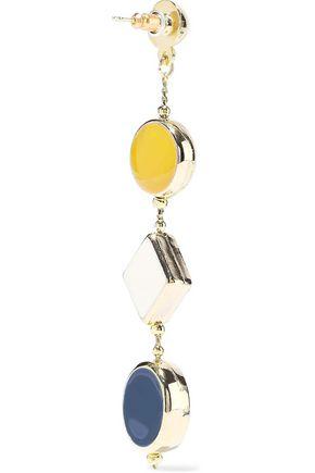 KENNETH JAY LANE Gold-tone enamel earrings