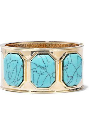 KENNETH JAY LANE Gold-tone stone cuff