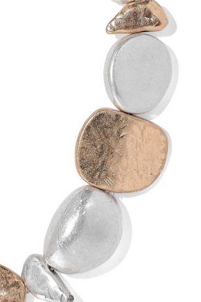 KENNETH JAY LANE 22-karat gold and rhodium-plated bracelet