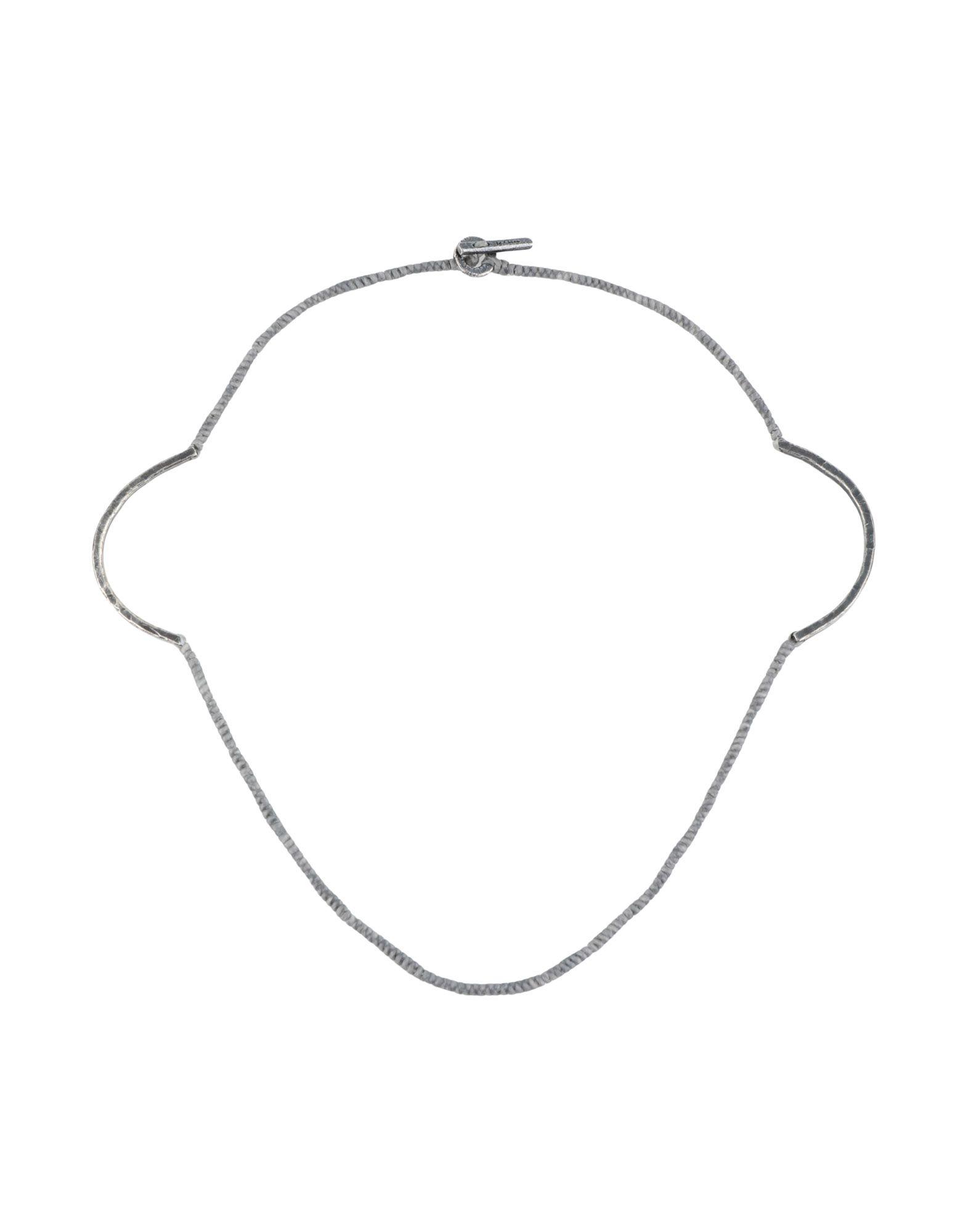 《セール開催中》M. COHEN レディース ネックレス グレー 真鍮/ブラス
