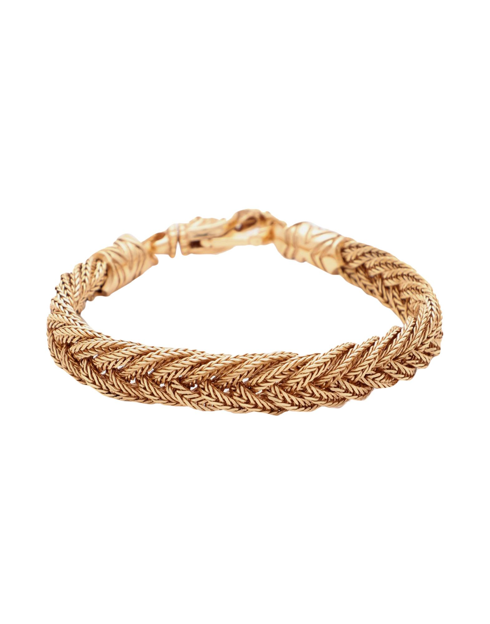 EMANUELE BICOCCHI エマヌエーレ・ビコッキ Unisex ブレスレット GOLD DIAMOND CUT BRAIDED ゴールド