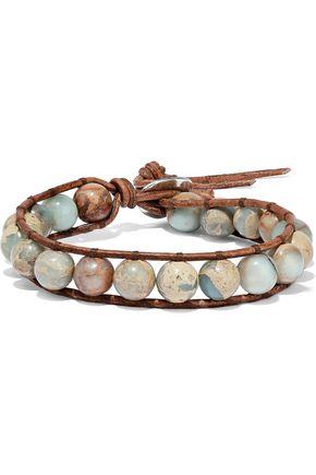 CHAN LUU Cord and aqua terra bracelet