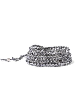 CHAN LUU Metallic cord and bead wrap bracelet