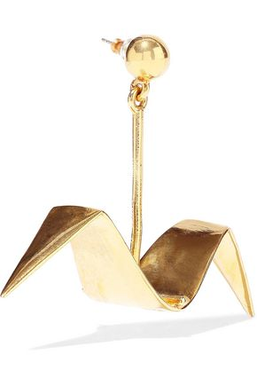 OSCAR DE LA RENTA Gold-tone earrings