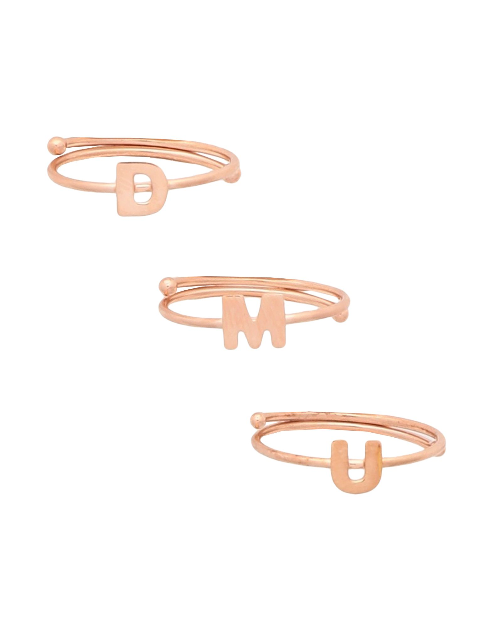 《セール開催中》MAMAN ET SOPHIE レディース 指輪 カッパー A シルバー925/1000 ALPHABET RING
