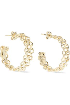 ROSANTICA Lavanda gold-tone hoop earrings