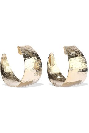 ROSANTICA Timo hammered gold-tone hoop earrings
