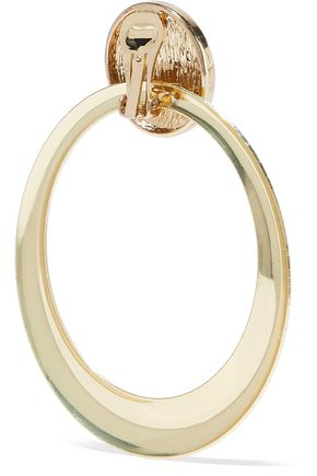 ROSANTICA Gold-tone hoop clip earrings