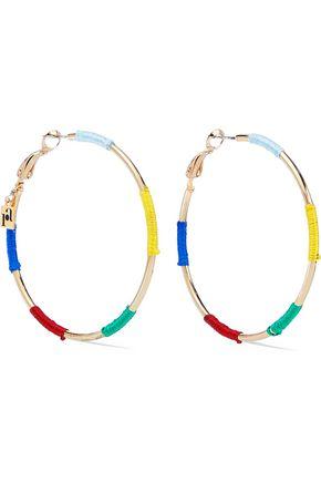 ROSANTICA Gold-tone cord hoop earrings