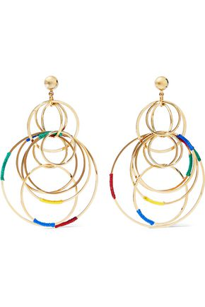 ROSANTICA Sesamo gold-tone cord earrings