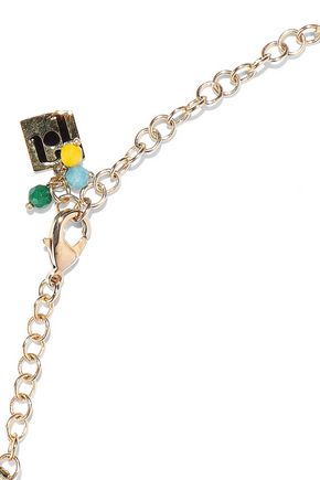 ROSANTICA Gold-tone cord necklace