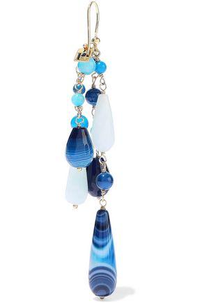 ROSANTICA Menta gold-tone beaded earrings