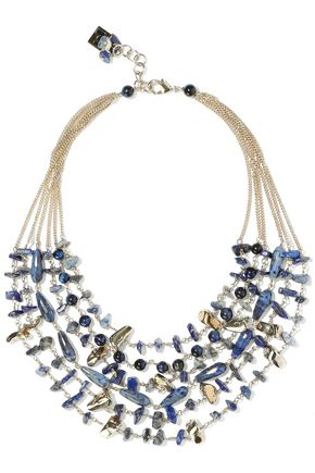 ROSANTICA Gold-tone stone necklace