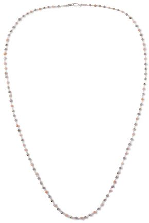 CHAN LUU Sterling silver, bead and stone necklace