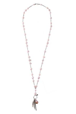 CHAN LUU Sterling silver, freshwater pearl and Swarovski crystal necklace