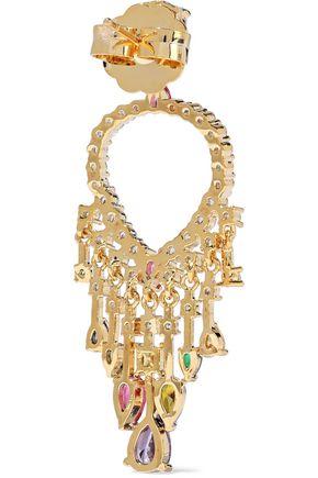 CZ by KENNETH JAY LANE Gold-tone crystal earrings