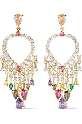 CZ by KENNETH JAY LANE Gold-tone crystal earrings