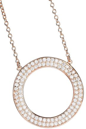 CZ by KENNETH JAY LANE Rose gold-plated crystal necklace
